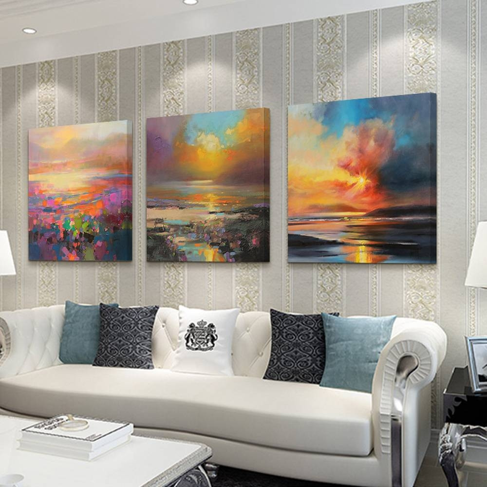Best ideas about 3 Piece Wall Art . Save or Pin 2018 Latest 3 Piece Abstract Wall Art Now.