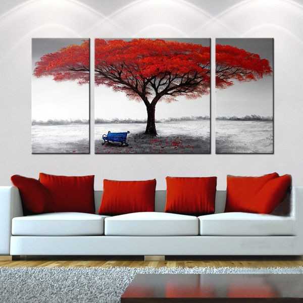 Best ideas about 3 Piece Wall Art . Save or Pin Hand painted The First Snowflakes 3 piece Gallery Now.