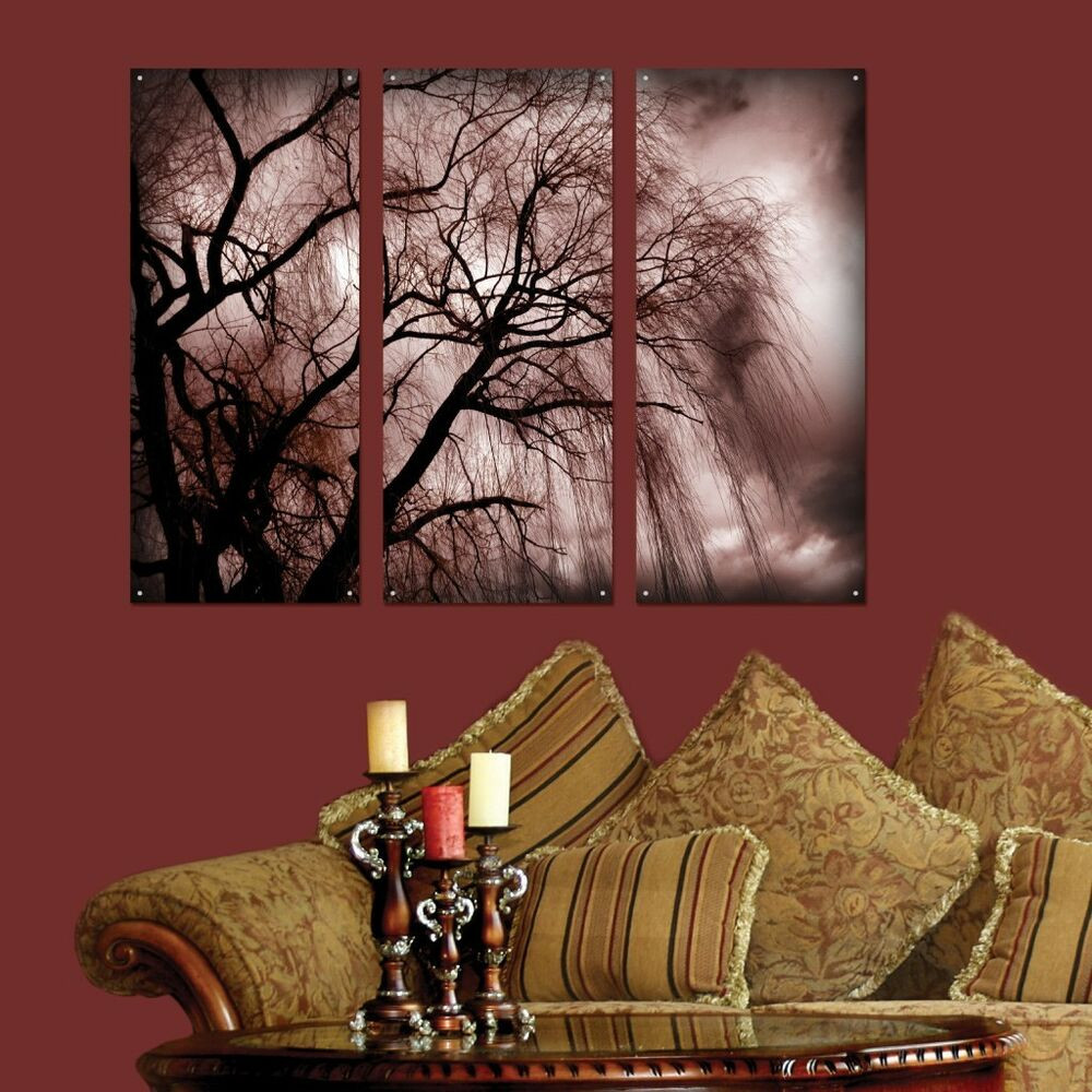 Best ideas about 3 Piece Wall Art . Save or Pin 3 Piece Wall Art Nature Dark Tree Plexi Glass Art Now.
