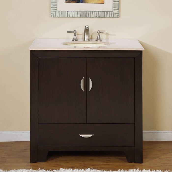 Best ideas about 36 Inch Bathroom Vanity . Save or Pin Shop Silkroad Exclusive 36 inch Marble Stone Top Bathroom Now.
