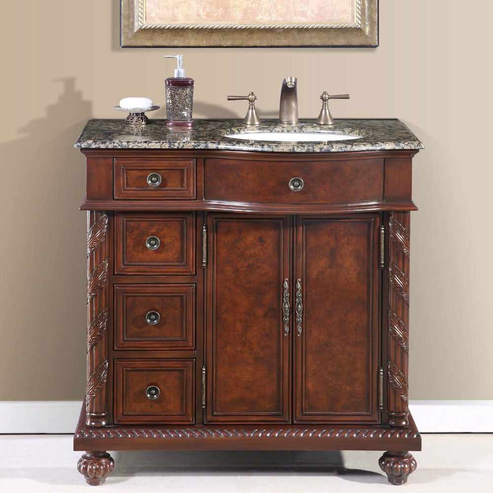 Best ideas about 36 Inch Bathroom Vanity . Save or Pin 36 inch Single Bathroom Vanity f Center Right Sink Stone Now.