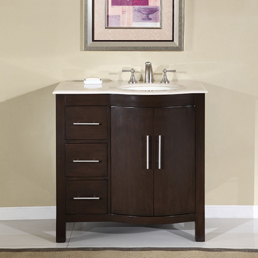 Best ideas about 36 Inch Bathroom Vanity . Save or Pin 36 Inch Modern Single Sink Bathroom Vanity with Cream Now.