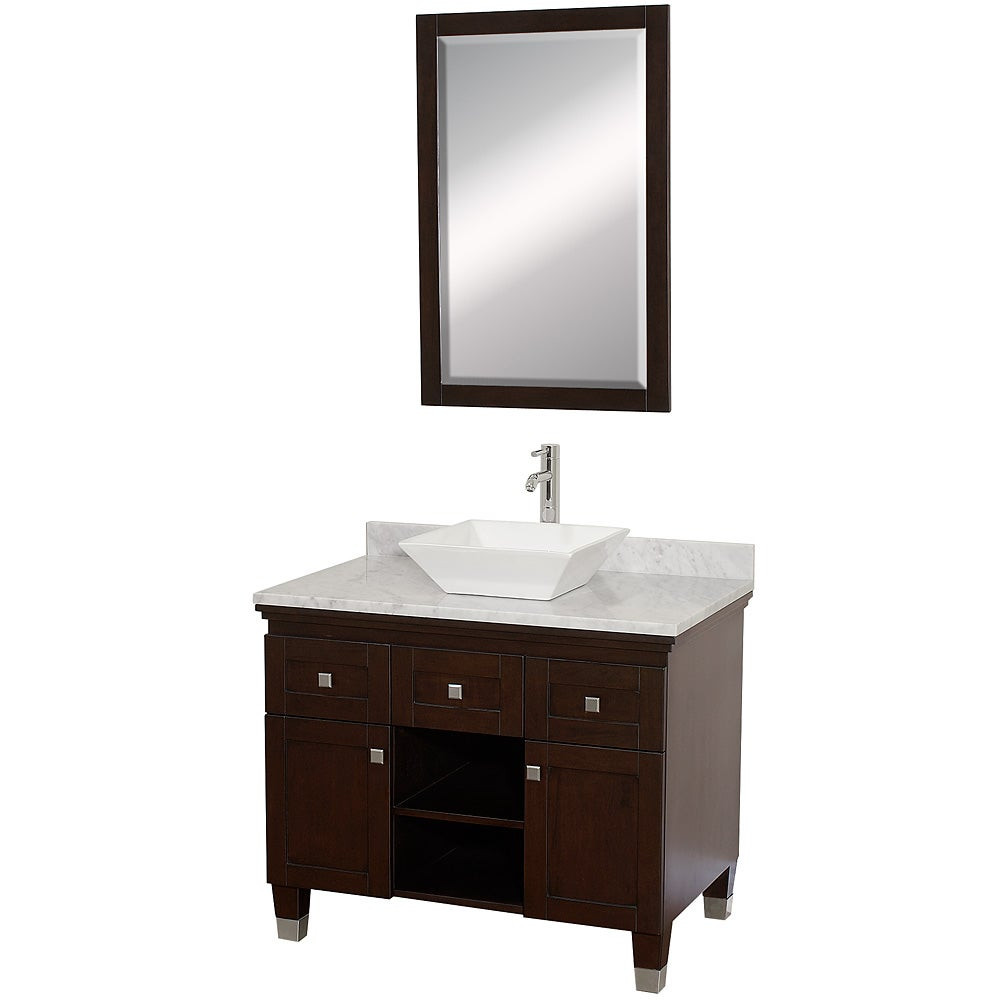 Best ideas about 36 Inch Bathroom Vanity . Save or Pin Wyndham Collection Premiere Espresso 36 inch Solid Oak Now.