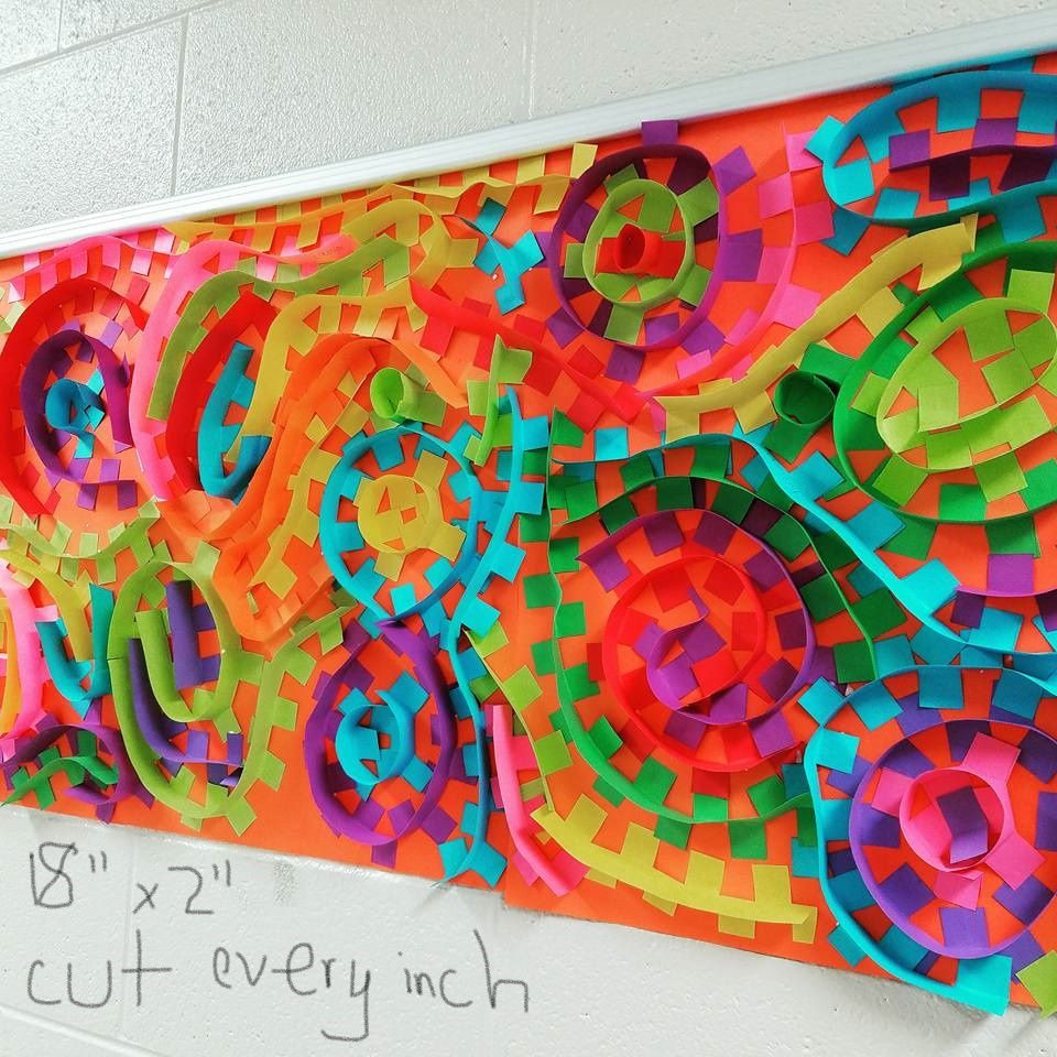 Best ideas about 3D Art Projects For Kids . Save or Pin Fun and bright 3D art project for kids Now.