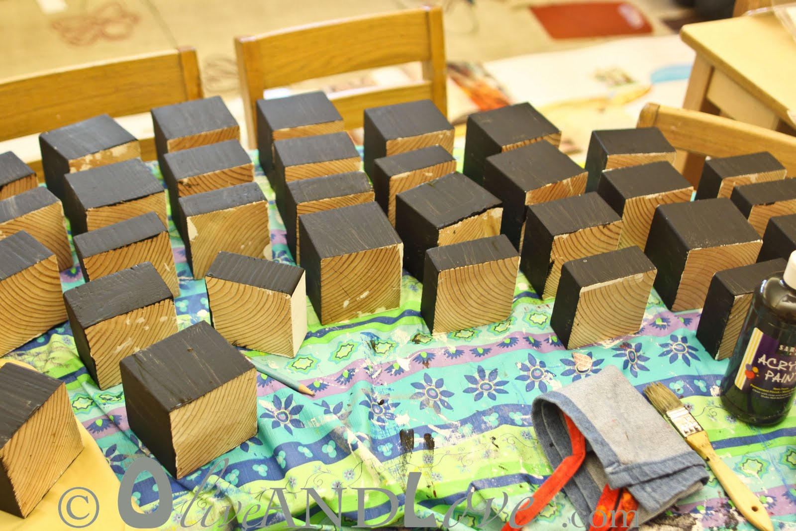 Best ideas about 3D Art Projects For Kids . Save or Pin 3D wooden blocks – Children's Auction Art Project Now.