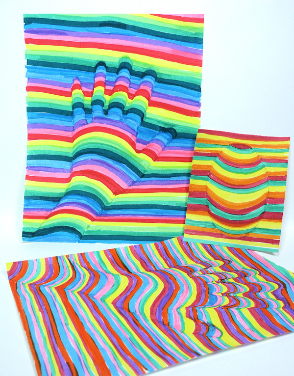 Best ideas about 3D Art Projects For Kids . Save or Pin Fun OP Art Project for Kids Now.