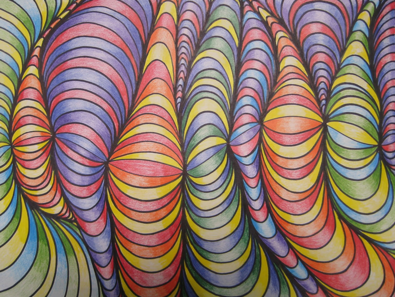 Best ideas about 3D Art Projects For Kids . Save or Pin Line Designs with Shading • TeachKidsArt Now.