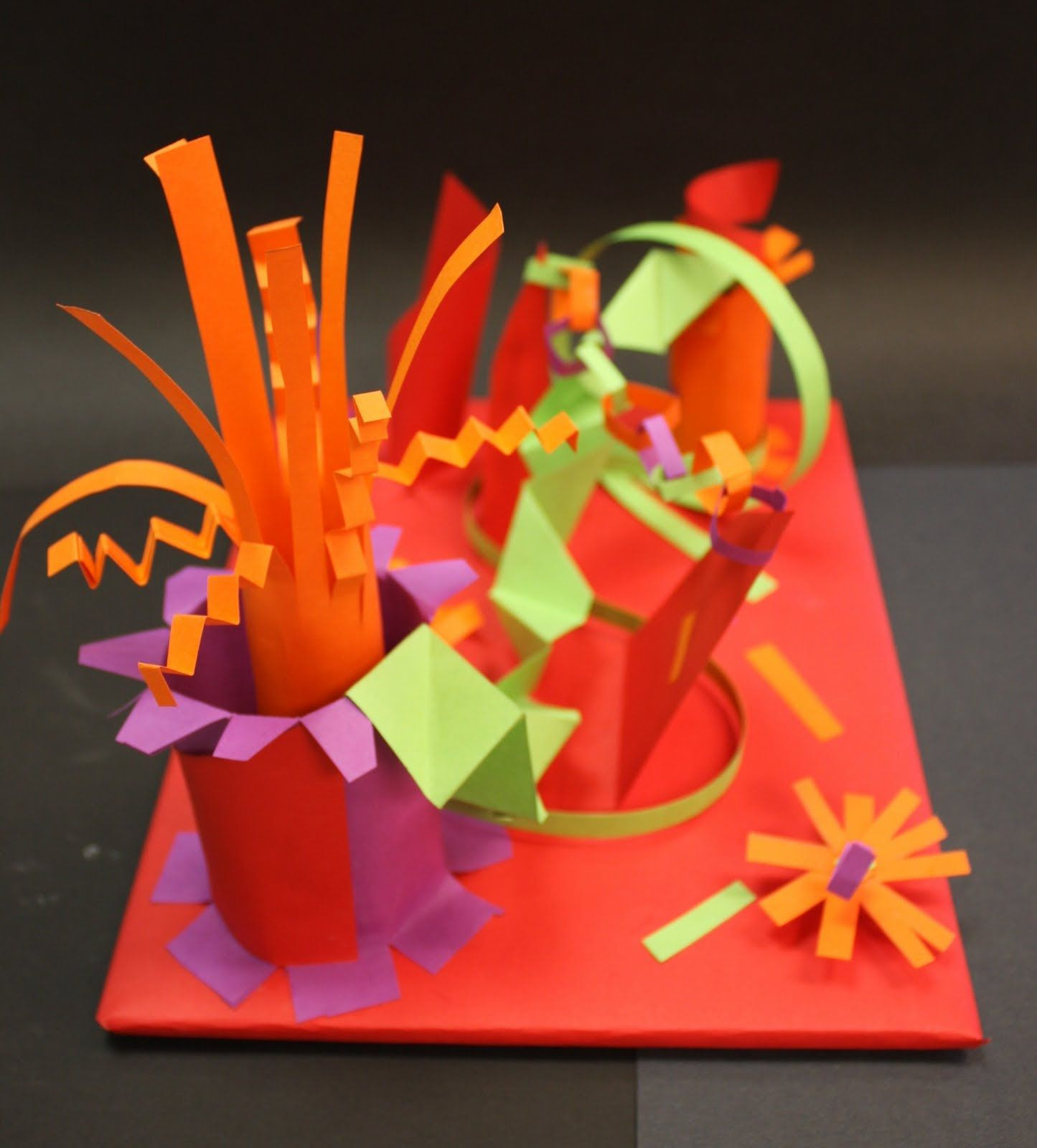 Best ideas about 3D Art Projects For Kids . Save or Pin Wow fun paper sculpture Teaches great fine motor Now.