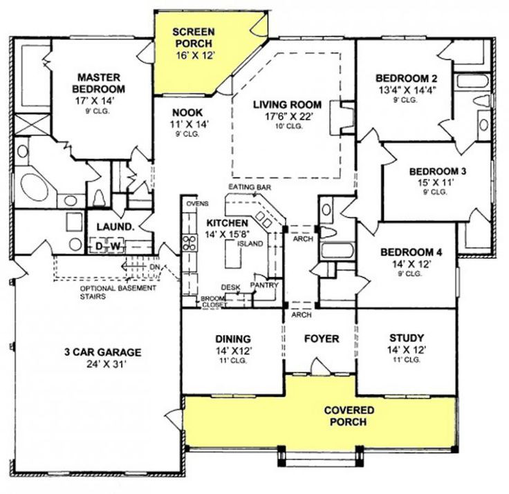 Best ideas about 4 Bedroom Floor Plans . Save or Pin 25 best ideas about 4 Bedroom House Plans on Pinterest Now.