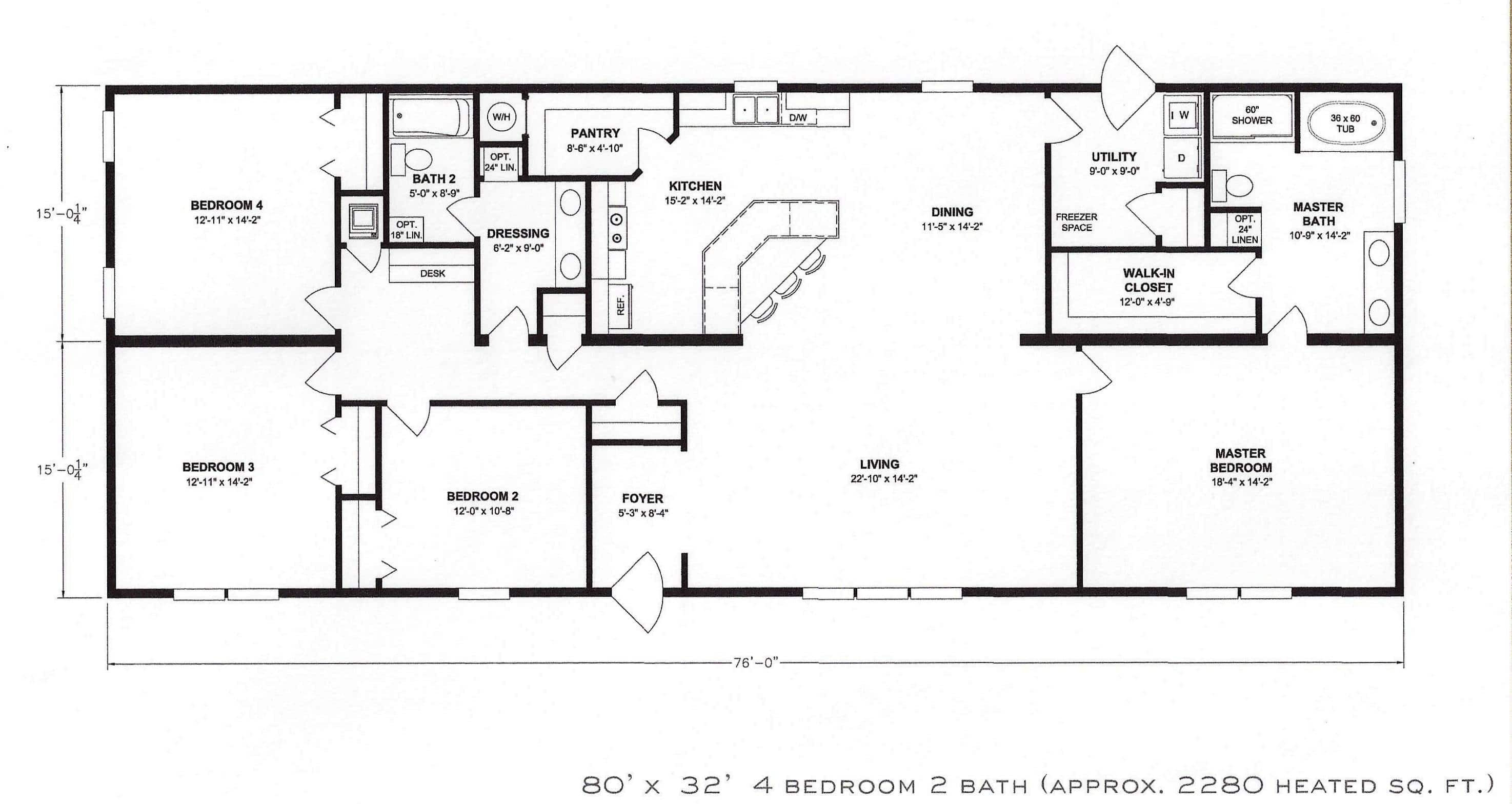 Best ideas about 4 Bedroom Floor Plans . Save or Pin 4 Bedroom Floor Plan F 1001 Hawks Homes Now.