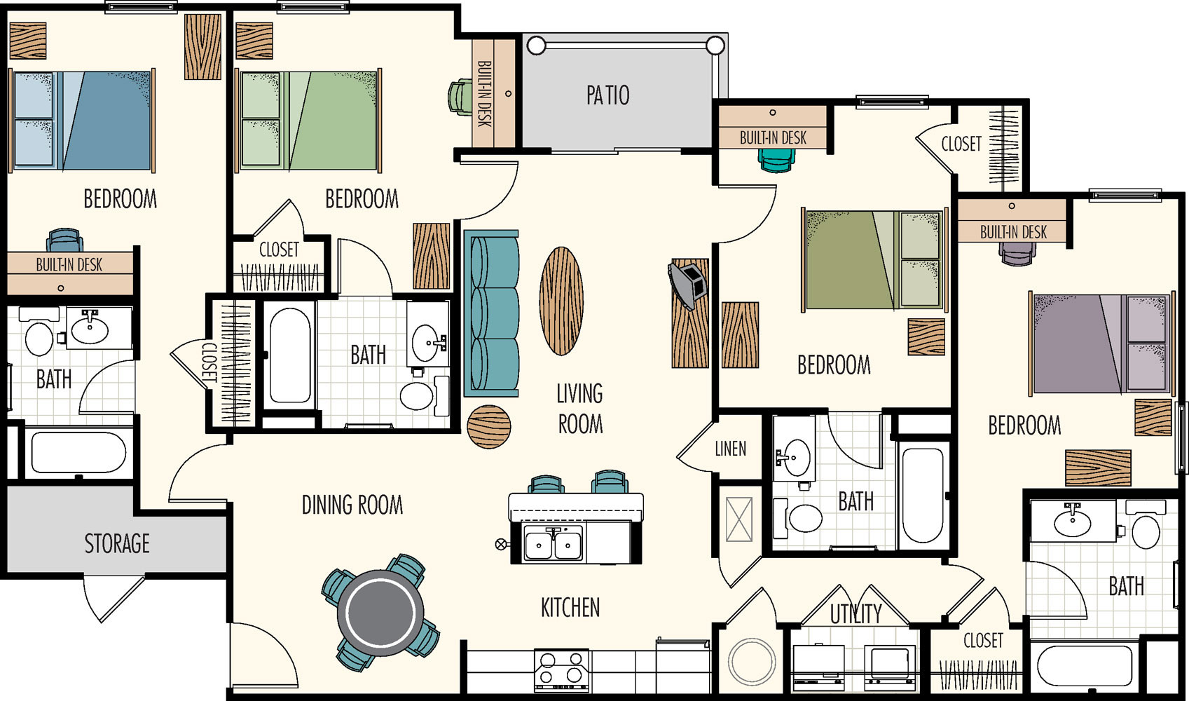 Best ideas about 4 Bedroom Floor Plans . Save or Pin Floor Plans Hasbrouck ManagementHasbrouck Management Now.