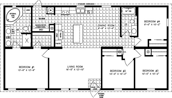 Best ideas about 4 Bedroom Mobile Homes . Save or Pin Four Bedroom Mobile Home Floor Plans Now.