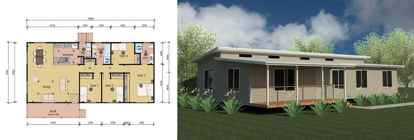 Best ideas about 4 Bedroom Mobile Homes . Save or Pin The Balson 4 Bedroom Modular Home Parkwood Homes Now.