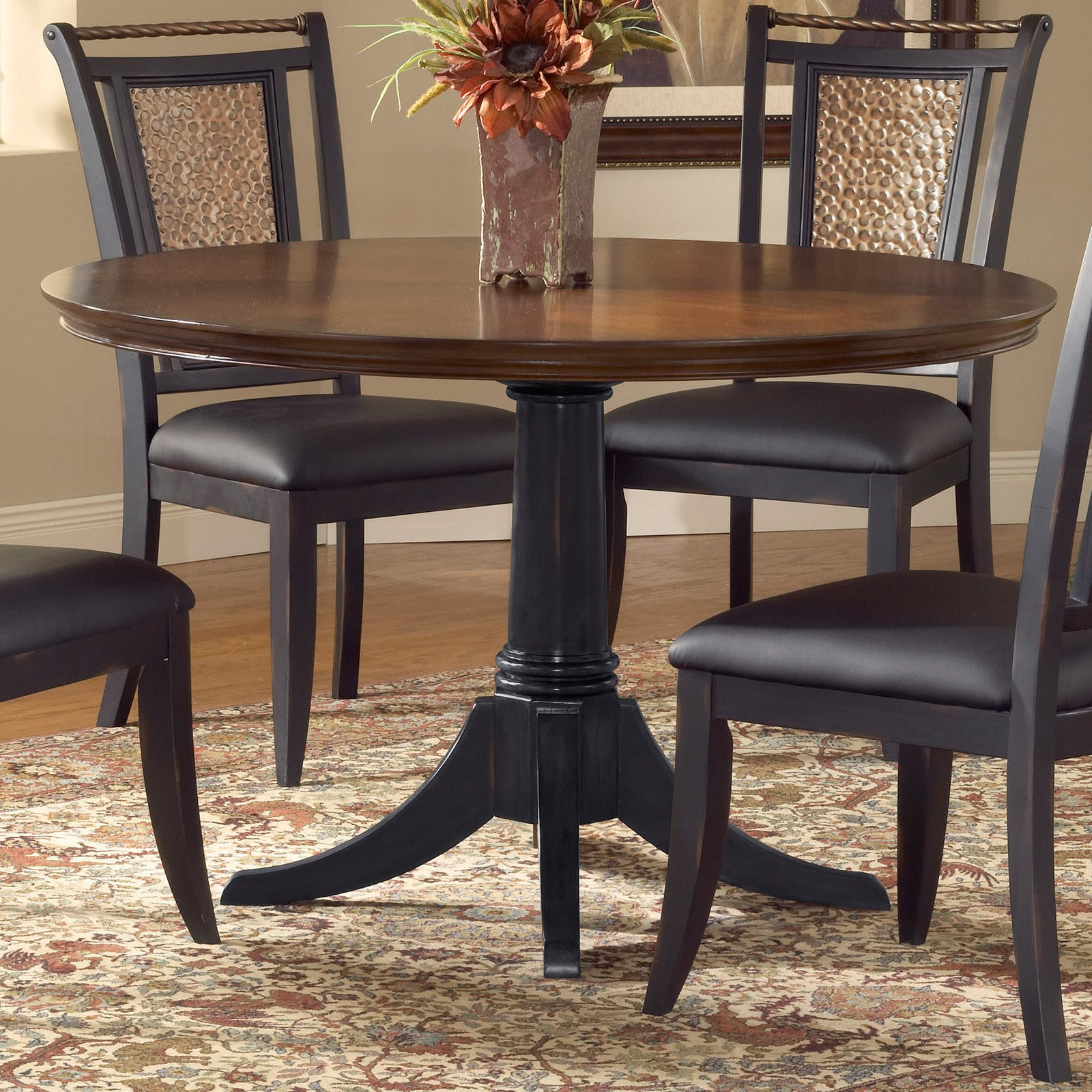 Best ideas about 48 Inch Round Dining Table . Save or Pin Norwood 48 Inch Round Dining Table Distressed Black Base Now.