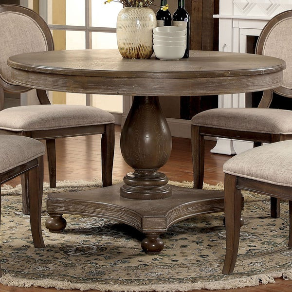 Best ideas about 48 Inch Round Dining Table . Save or Pin Shop Furniture of America Lelan Traditional Rustic Round Now.