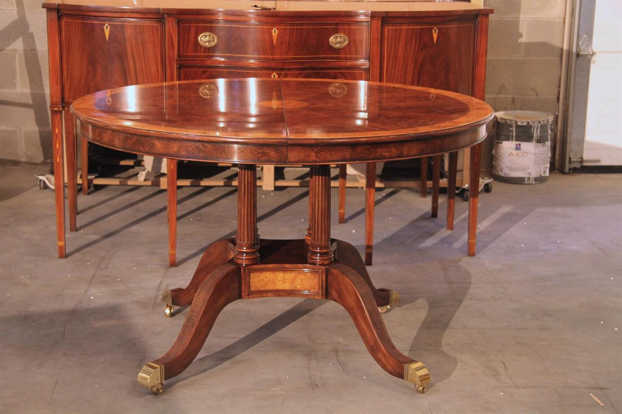 Best ideas about 48 Inch Round Dining Table . Save or Pin 48 Inch Round to Oval Walnut and Yew Banded Dining Table Now.