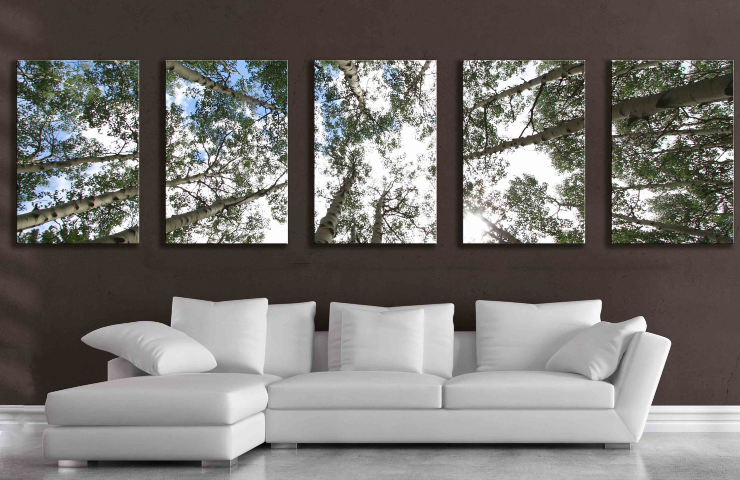 Best ideas about 5 Panel Wall Art . Save or Pin 5 panel wall art aspen tree canvas decor five multipiece Now.