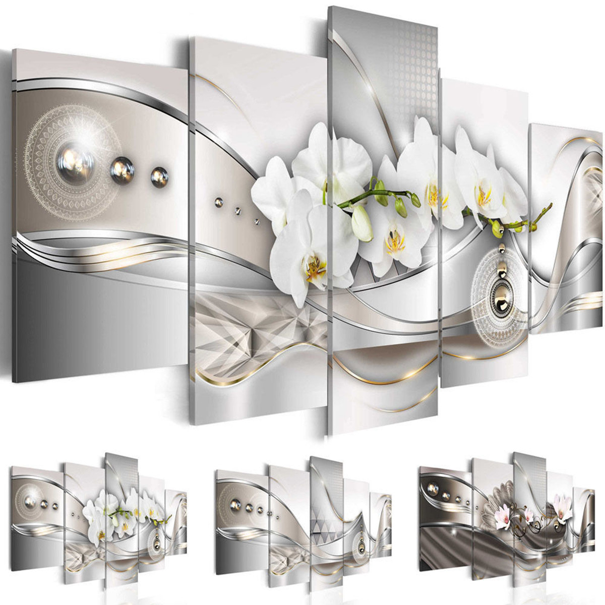Best ideas about 5 Panel Wall Art . Save or Pin 5 Panel Canvas Print Modern Picture Wall Art Decor Home Now.