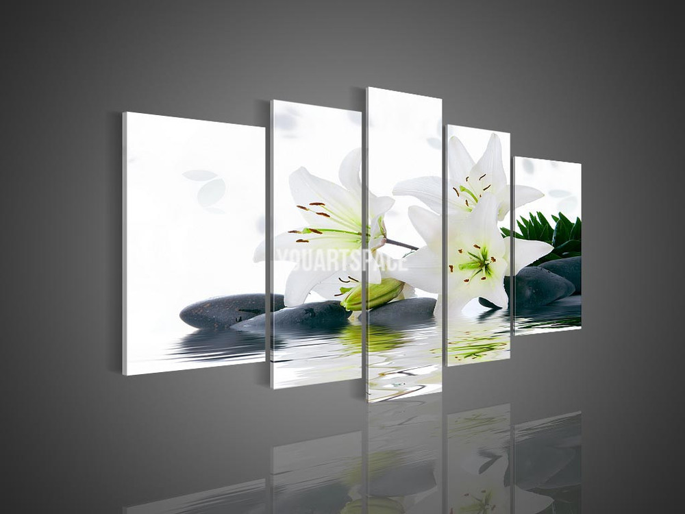 Best ideas about 5 Panel Wall Art . Save or Pin 5 Panel Wall Art No Framed Modern Abstract Acrylic Flower Now.