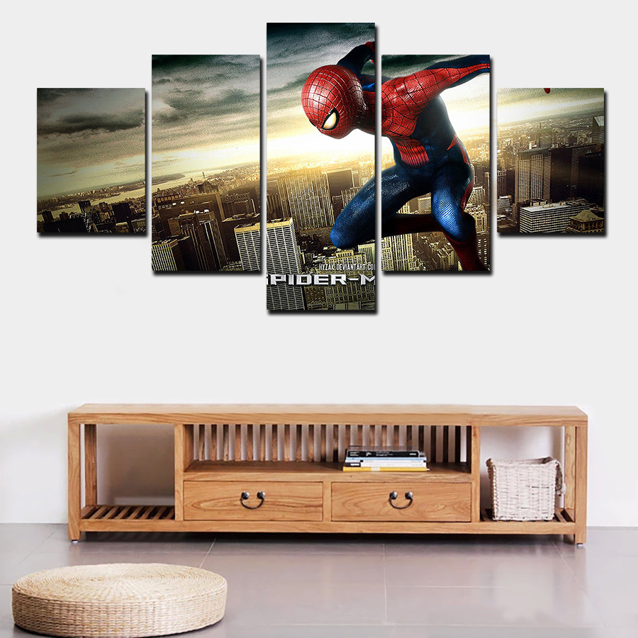 Best ideas about 5 Panel Wall Art . Save or Pin 2016 framed 5 panel high quality home decoration wall art Now.