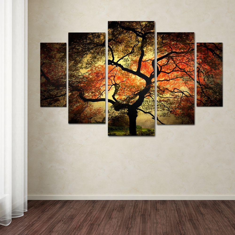 Best ideas about 5 Panel Wall Art . Save or Pin Trademark Fine Art Japanese by Philippe Sainte Laudy 5 Now.