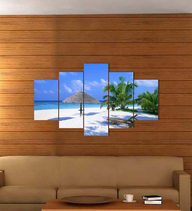 Best ideas about 5 Panel Wall Art . Save or Pin Go Hooked 5 Panel Sandy Beach Wall Decor by Go Hooked Now.