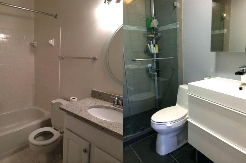 Best ideas about 5X8 Bathroom Layout . Save or Pin Small Bathrooms Makeover Bathroom Makeovers Before And Now.