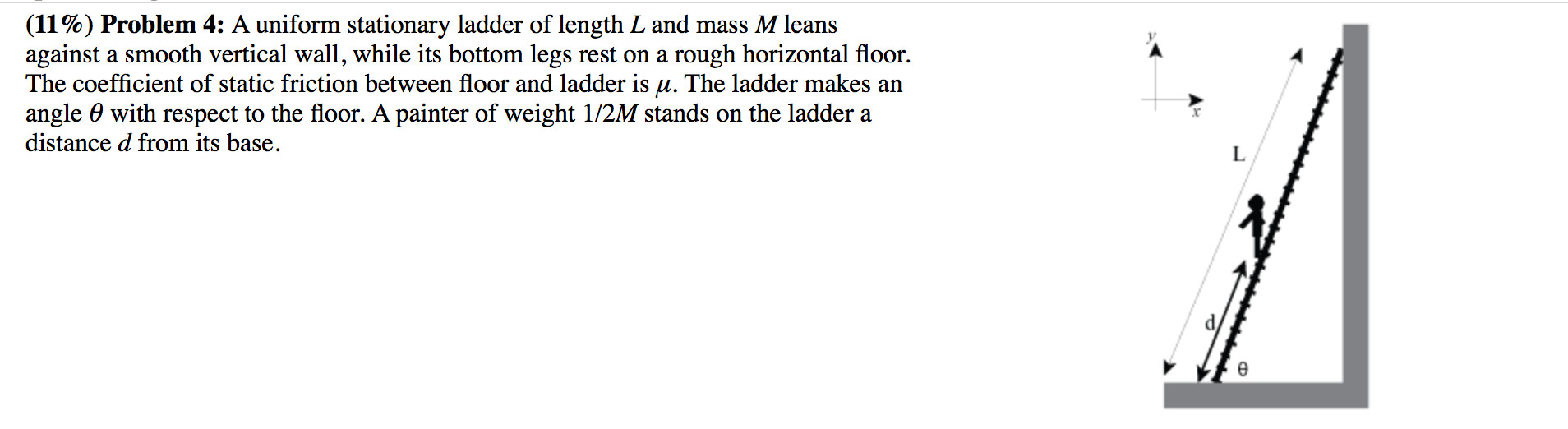 Best ideas about A Uniform Stationary Ladder Of Length L And Mass M Leans Against A Smooth Vertical Wall . Save or Pin Physics Archive June 16 2016 Now.