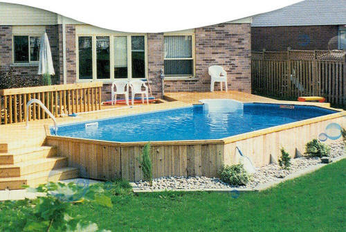 Best ideas about Above Ground Pool Landscaping . Save or Pin Build How To Build An Ground Pool Deck DIY PDF Now.
