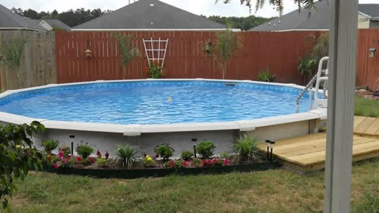 Best ideas about Above Ground Pool Landscaping . Save or Pin Ground Pool Landscape Design Ideas Now.