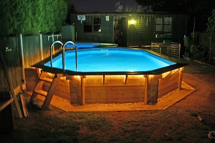 Best ideas about Above Ground Pool Landscaping . Save or Pin Backyard swimming pool landscaping ideas of design Now.