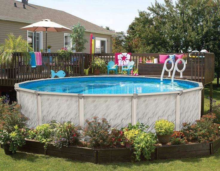 Best ideas about Above Ground Pool Landscaping . Save or Pin 126 best images about Ground Pool Landscaping on Now.