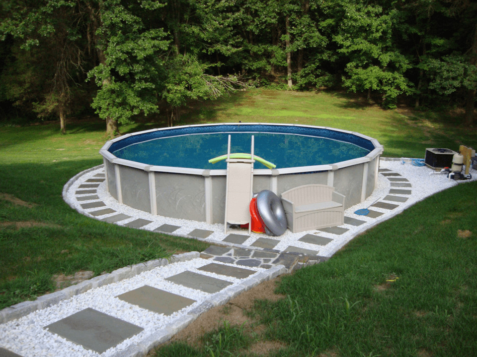 Best ideas about Above Ground Pool Landscaping . Save or Pin Backyard Landscaping Ideas With Ground Pool Now.