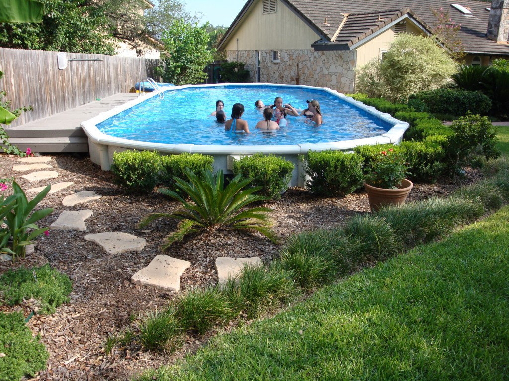 Best ideas about Above Ground Pool Landscaping . Save or Pin Landscaping Around Your Ground Pool Now.