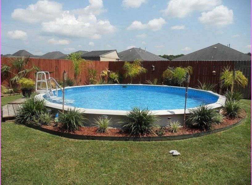 Best ideas about Above Ground Pool Landscaping . Save or Pin Landscaping Around Ground Pool design Now.