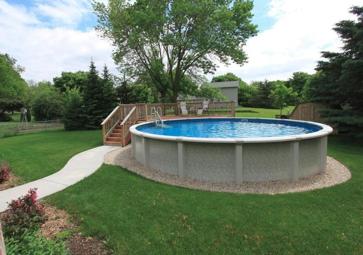Best ideas about Above Ground Pool Landscaping . Save or Pin 95 best Ground Pool Landscaping images on Pinterest Now.