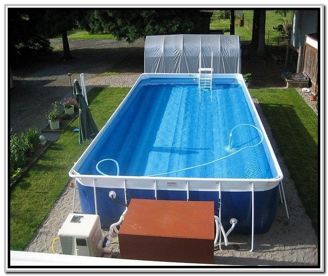 Best ideas about Above Ground Pool Rectangular . Save or Pin 25 best ideas about Rectangle Ground Pool on Now.