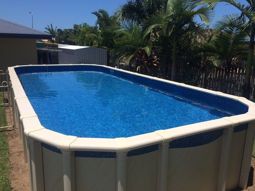 Best ideas about Above Ground Pool Rectangular . Save or Pin Ground Rectangular Pool Australia Wide Shipping Now.