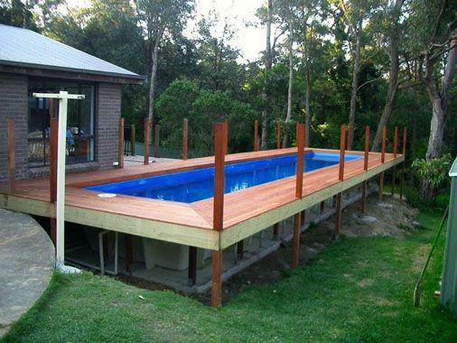 Best ideas about Above Ground Pool Rectangular . Save or Pin Rectangular above ground pools with wooden decks Now.
