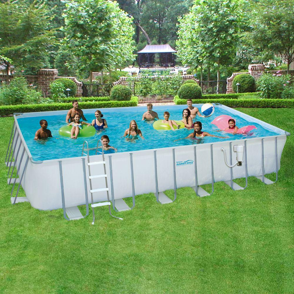 Best ideas about Above Ground Pool Rectangular . Save or Pin Summer Waves Elite ProSeries 12 ft x 24 ft Rectangular Now.