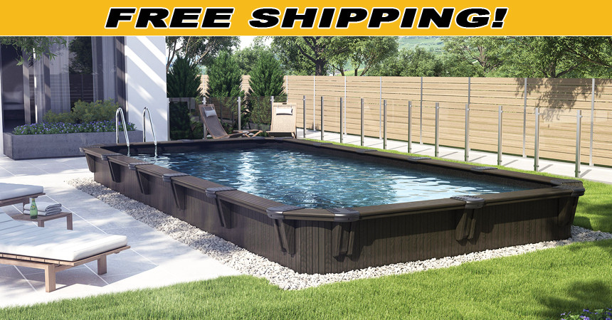 Best ideas about Above Ground Pool Rectangular . Save or Pin Wooden Pools Now.
