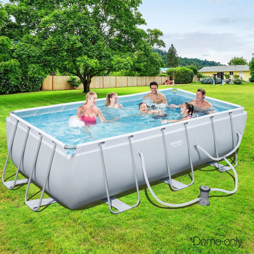 Best ideas about Above Ground Pool Rectangular . Save or Pin Buy Bestway Rectangular Frame Ground Swimming Pool Now.