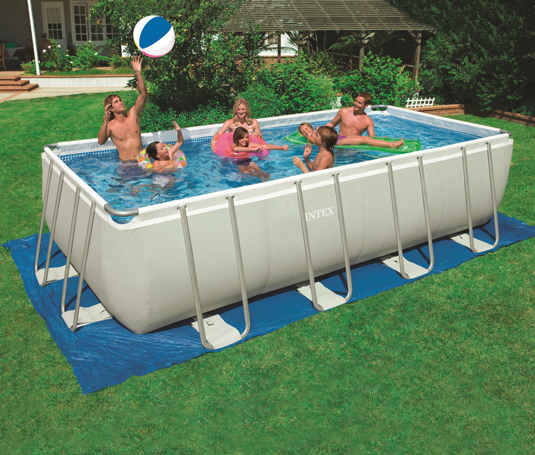 Best ideas about Above Ground Pool Rectangular . Save or Pin Family Garden Swimming Pool Rectangular Shape Now.