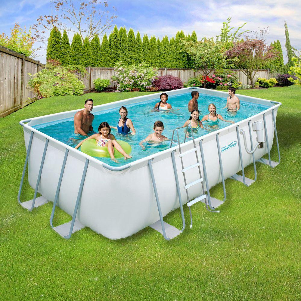 Best ideas about Above Ground Pool Rectangular . Save or Pin Summer Waves Elite ProSeries 9 ft x 18 ft Rectangular 52 Now.