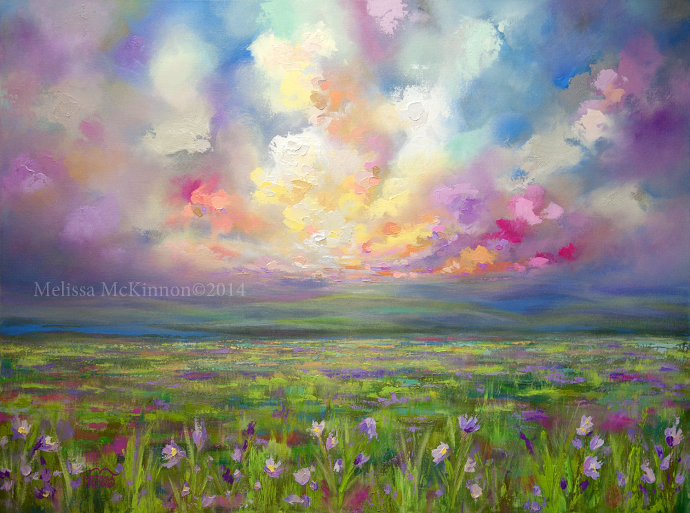 Best ideas about Abstract Landscape Paintings . Save or Pin Colourful Prairie and Big Sky Abstract Landscape Painting Now.