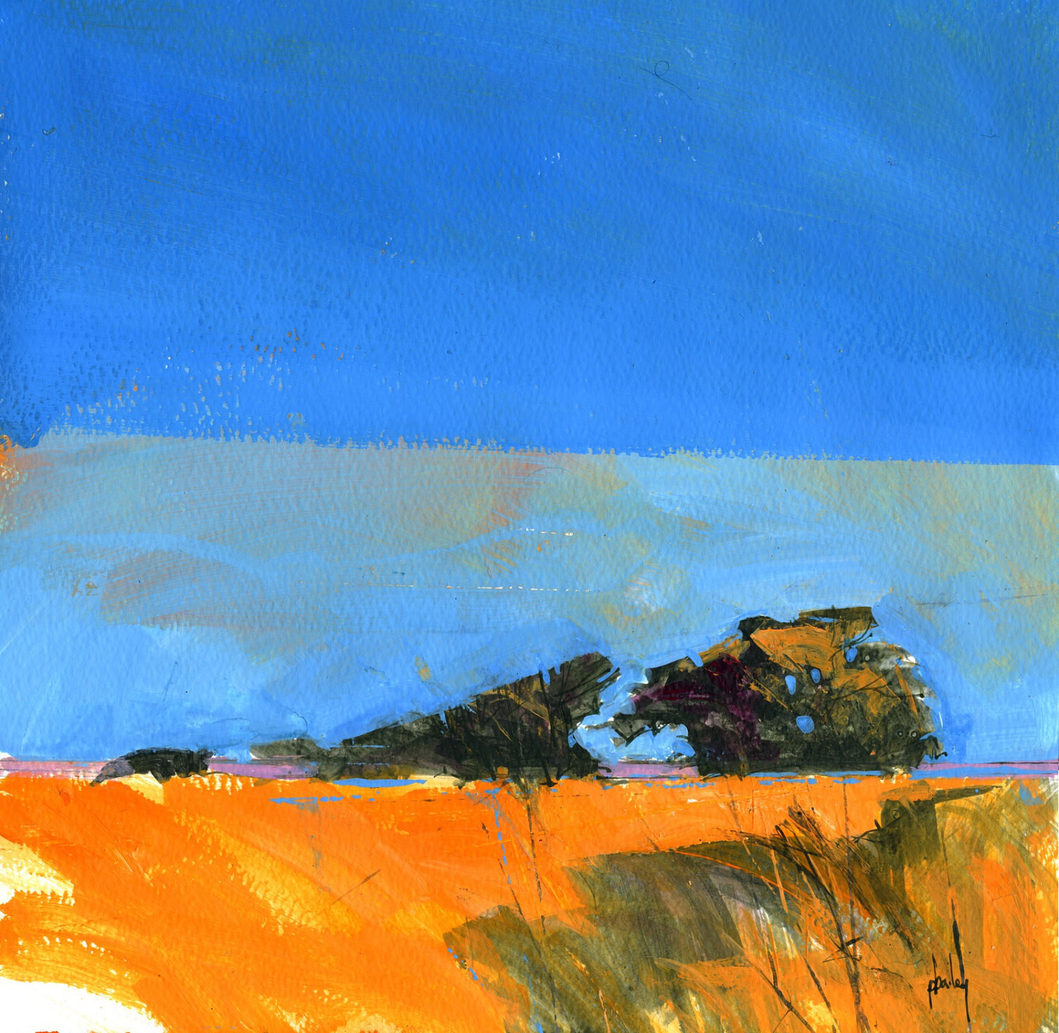 Best ideas about Abstract Landscape Paintings . Save or Pin Original semi abstract landscape painting by Paul Bailey Now.