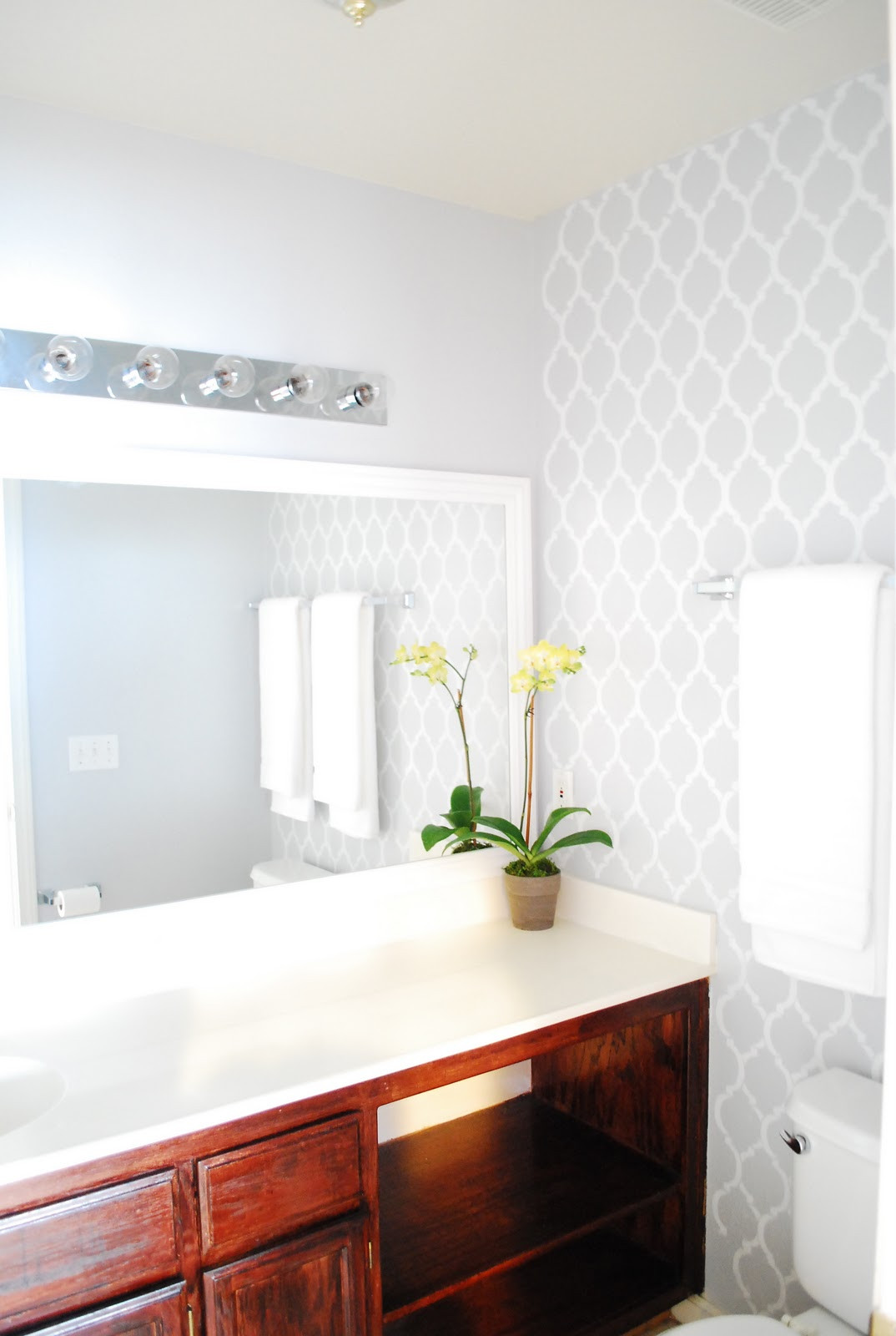 Best ideas about Accent Wall Bathroom . Save or Pin DIY Bathroom Makeover Now.