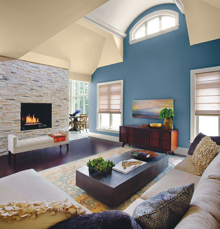 Best ideas about Accent Wall Colors Living Room . Save or Pin Blue accent wall in living room piggies Now.