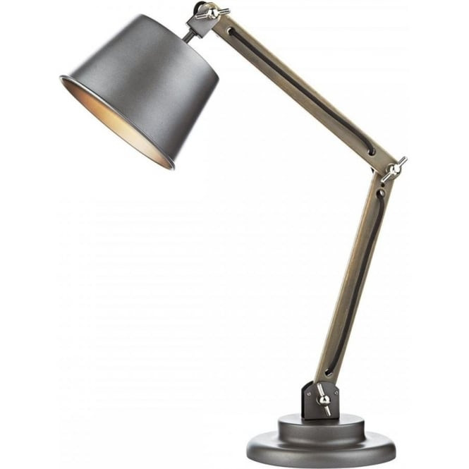 Best ideas about Adjustable Desk Lamp . Save or Pin Retro Style Desk Lamp with Wooden Frame Matt Grey Base Now.