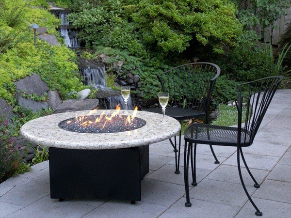 Best ideas about All Backyard Fun . Save or Pin Granite Gas Fire Pit by Allbackyardfun Traditional Now.